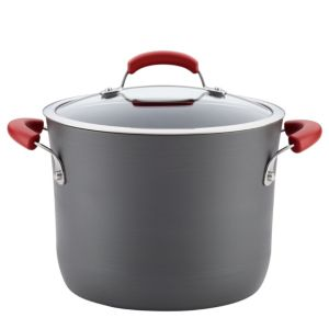 Image of Rachael Ray 8-Quart Hard-Anodized Aluminum Nonstick Covered Stockpot
