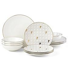 Trianna 12-Pc. Dinnerware Set, Service for 4