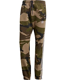 reputable site 8a652 3fe57 adidas Mens Camo-Print French Terry Pants