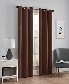 """Microfiber Thermaback Blackout 42"""" x 63"""" Curtain Panel"""