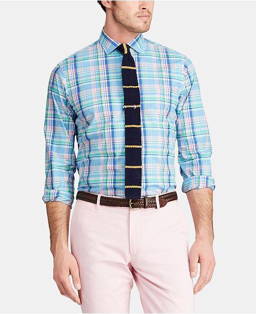 Polo Ralph Lauren Men's Slim Fit Plaid Cotton Shirt