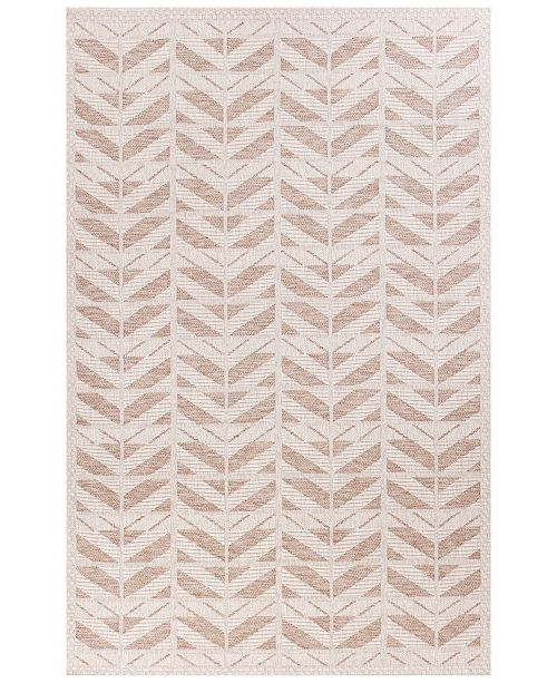"Kas CLOSEOUT! Farmhouse Chevron 3201 Beige 5' x 7'7"" Indoor/Outdoor Area Rug"
