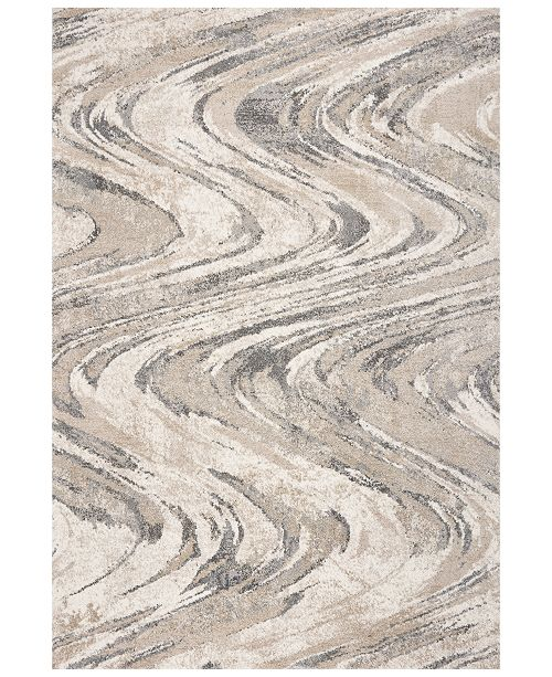 "Kas Hue Groove 4752 Natural 2'2"" x 7'6"" Runner Area Rug"
