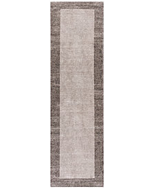 "KAS Retreat Border 114 Taupe 2'2"" x 7'6"" Runner Area Rug"