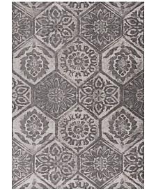 "KAS Retreat Mosaic 113 Grey 6'7"" x 9'6"" Area Rug"