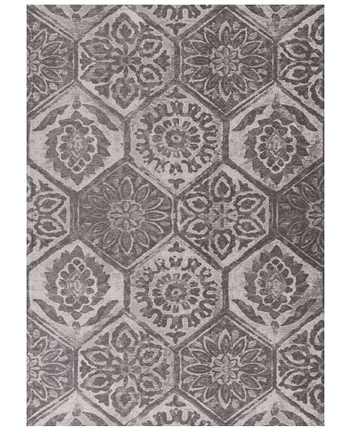 "Kas CLOSEOUT! Retreat Mosaic 113 Grey 2'2"" x 3'9"" Area Rug"
