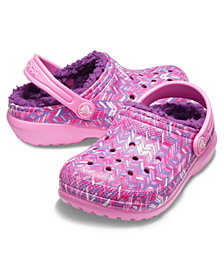 Crocs Toddler & Little Girls Classic Lined Graphic Clog K