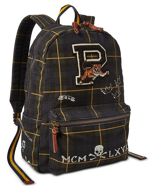 51602d690 Polo Ralph Lauren Men's Black Watch Backpack & Reviews - All ...