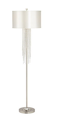 Pacific Coast Metal Stick Floor Lamp with Crystal Bead Drops