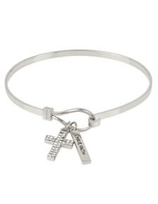 BCBGeneration Pave Cross Charm Bracelet