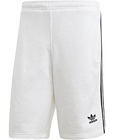 adidas Men's French Terry Three-Stripe Shorts