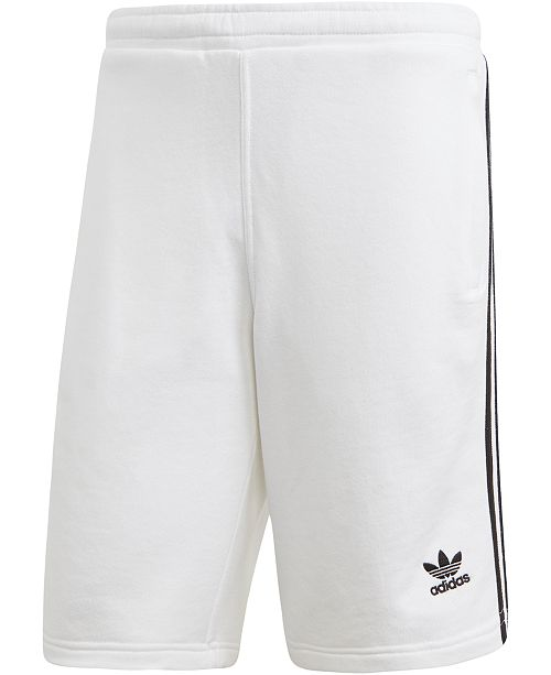 adidas adidas Men's French Terry Three-Stripe Shorts