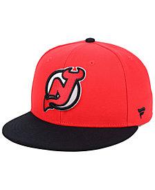 Authentic NHL Headwear New Jersey Devils Basic Fan Fitted Cap