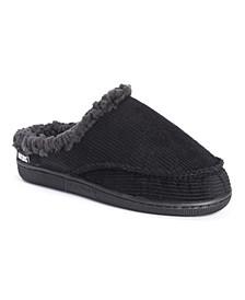 Men's Corduroy Clog Slippers