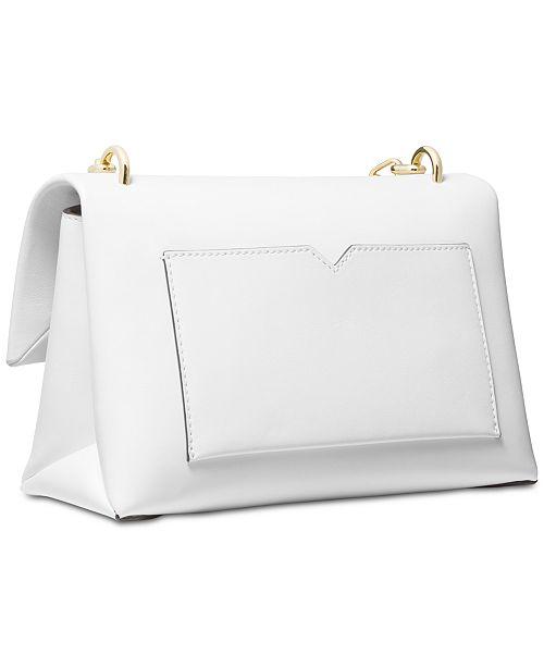 0c7769347403 Michael Kors Cece Polished Leather Chain Small Shoulder Bag ...