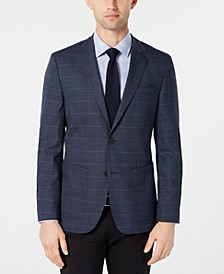 Men's Classic-Fit Blue Checkered Sport Coat