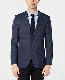 HUGO by Hugo Boss Men's Classic-Fit Blue Checkered Sport Coat