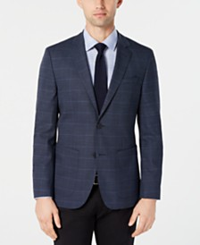 HUGO by Hugo Boss Men's Classic-Fit Blue Checkered Sport Coat