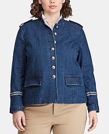 Lauren Ralph Lauren Plus Size Twill Jacket