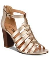 9e2eb1ac11da XOXO Baxter Strappy Block-Heel Sandals