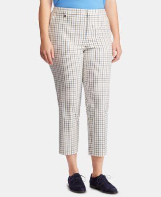 Plus Size Tattersall Skinny Pants