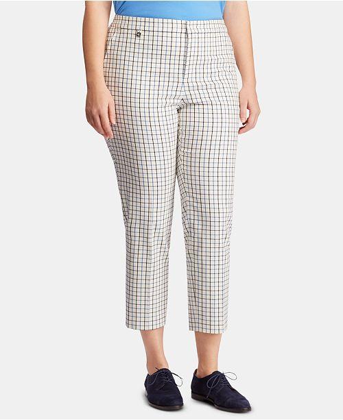 Lauren Ralph Lauren Plus Size Tattersall Skinny Pants