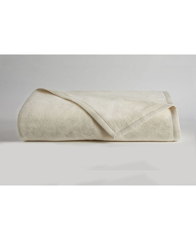 DownTown Company Cotton Cashmere Blanket, Queen