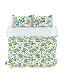Bella Duvet Cover Set, King, Cerulean