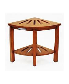 Oceanstar Corner Spa Shower Bench Seat with Storage Shelf