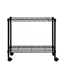 Portable 1-Tier Metal Rolling File Cart
