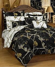 Realtree AP Black Full Comforter Sham Set
