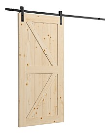 "Artisan Sliding Door 36"" Kit, Unfinished with Sliding Door Hardware - 35.98"" x 84.06"" x 1.38"""