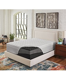 "5"" Comfort Loft Big Bump Convoluted Ebonite California King Memory Foam with Peachy Fiber Topper Cover"