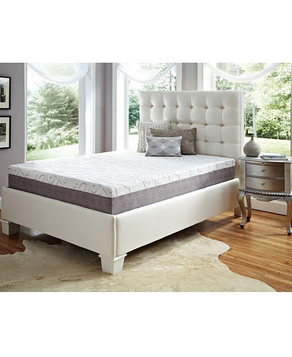 "Future Foam 10"" Comfort Loft Gray Rose with Ebonite Full Memory Foam and Comfort Choice, Firm"