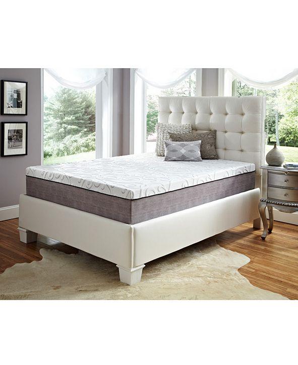 "Future Foam 12"" Comfort Loft Gray Rose with Ebonite California King Memory Foam and Comfort Choice, Medium Firmness"