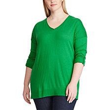Lauren Ralph Lauren Plus Size Roll-Sleeve Sweater
