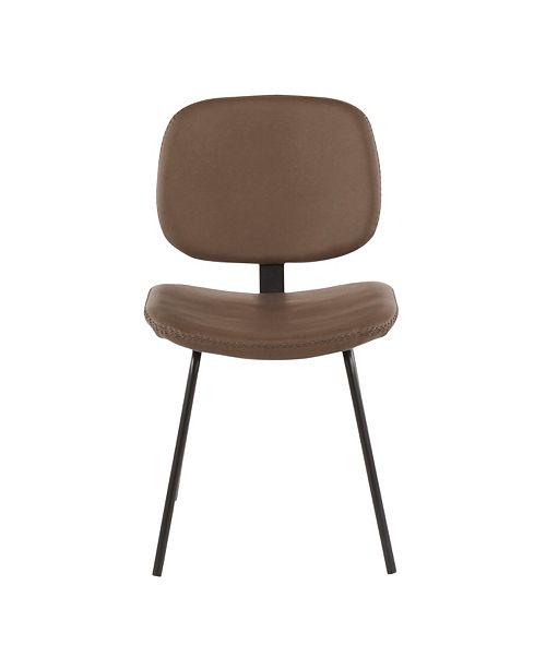 Lumisource Industrial Nunzio Chair Set of 2