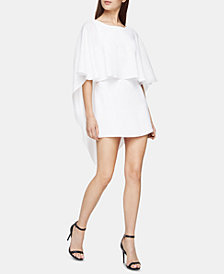 BCBGMAXAZRIA Open-Back Mini Cape Dress