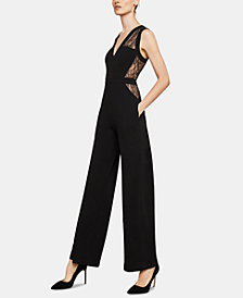 BCBGMAXAZRIA Lace-Blocked Jumpsuit