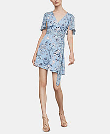 BCBGMAXAZRIA Flutter-Sleeve Wrap Dress