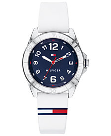 Tommy Hilfiger Men's Communion White Silicone Strap Watch 34mm