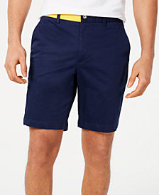 Calvin Klein Men's Flat-Front Colorblocked Sateen Shorts
