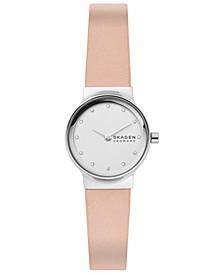 Women's Freja Blush Leather Strap Watch 26mm