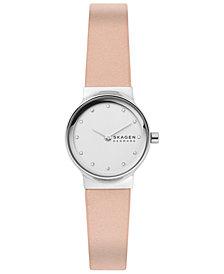 Skagen Women's Freja Blush Leather Strap Watch 26mm