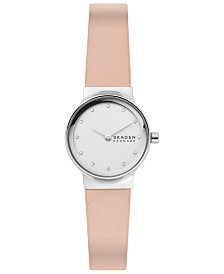 Skagen Women's Freja Blush Leather Strap Watch 26mm