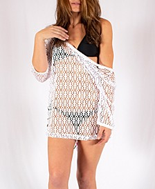 Lunada Double Knit Jacquard Lace Coverup