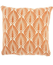 """Studio NYC Collection """"Leaves"""" Quartz Throw Pillow by Mina Victory"""