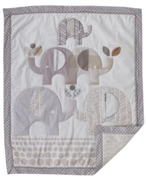 Image of 3 Stories Lolli Elephant Parade 3 Piece Nursery Bedding Set
