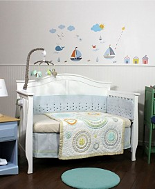 Nurture Cosmo Dots Blue 4 Piece Nursery Bedding Set
