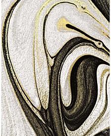 "Howlite and Onyx Abstract 16"" x 20"" Acrylic Wall Art Print"